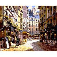 "Картина по номерам, картина-раскраска ""Рестораны Парижа"" 40Х50см VP266"