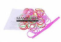 Резинка для плетения браслетов цветные ребристые ассорти