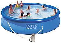 Надувной бассейн, бассейн большой надувной Intex 28132, 366*76 см+ насос-фильтр  5621 л.