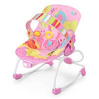 Шезлонг-качалка детский,музыкальный.Кресло-качалка для ребёнка 6903 (розовый)