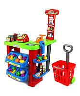 Большой Игровой набор Мой Магазин 661-80 Супермаркет, прилавок, кассовый аппарат, сканер, продукты, весы