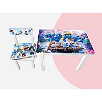 Детский стол и стул BSM1-M04 Smurfs - Смурфы
