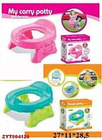 Детский горшок дорожный, горшок для ребёнка  3в1   8806/8808 (розовый, зелёный)