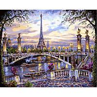 "Картина по номерам, картина-раскраска ""Воспоминания о Париже"" 40Х50см VP397"