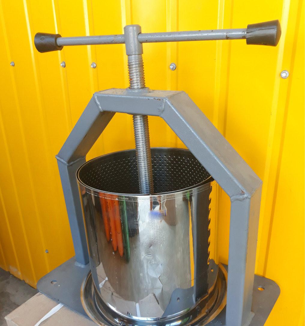 Пресс винтовой для сока объем 10 литров усиленная платформа Харьков Украина