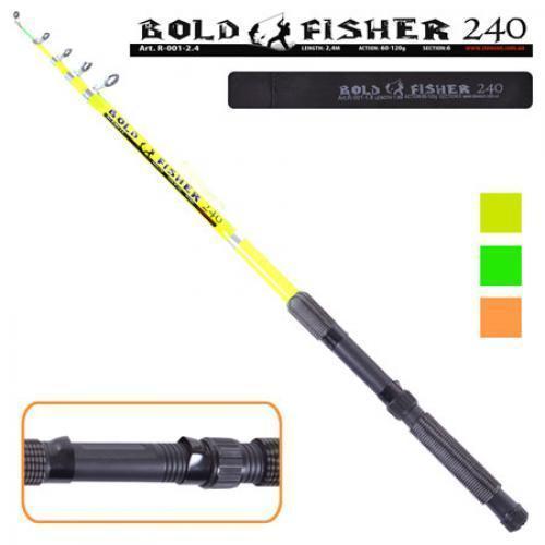 """Спиннинг телескопический """"Bold fisher"""" 3.3м 60-120г 6к"""