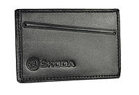 Обкладинка для посвідчення водія/тех паспорта Skoda SaLeather 5014-030, фото 1