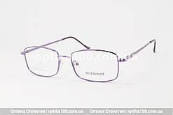 Тонка жіноча фіолетова металева оправа для окулярів