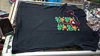 Футболка женская Вышиванка Маки размеры 42 44 54 56