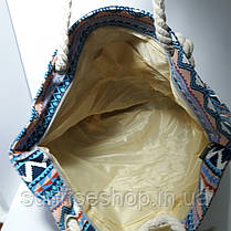 Пляжная сумка текстильная летняя большая  опт и розница, фото 3