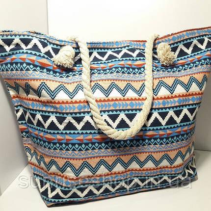Пляжная сумка текстильная летняя большая  опт и розница, фото 2
