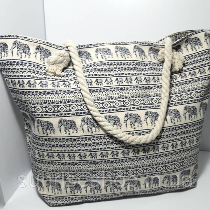 Пляжная сумка текстильная летняя большая  опт