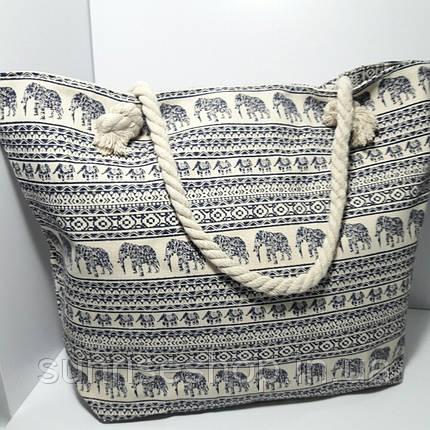 Пляжная сумка текстильная летняя большая  опт, фото 2