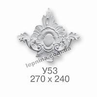 Гипсовая лепнина декоративный угол у-53