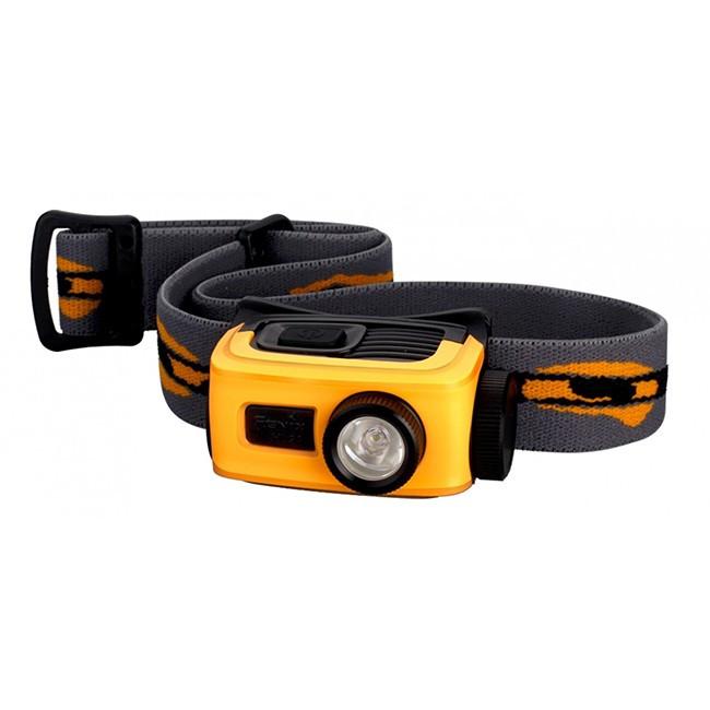 Фонарь для туризма с креплением на голову Fenix HL22 ( 1*AA,  120 Люмен) Желтый