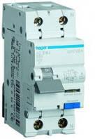 Дифференциальный автоматический выключатель 1+N, 10A, 30 mA, B, 6 КА, A, 2м Hager (AD910J)