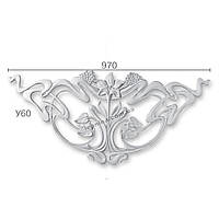 Гипсовая лепнина декоративный угол у-60
