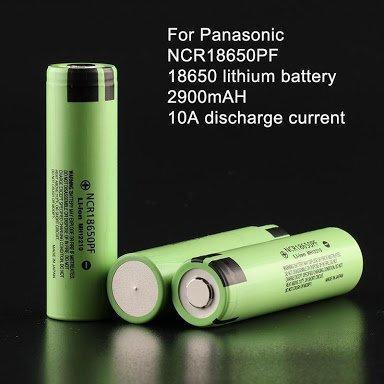 Аккумуляторы Panasonic NCR18650PF 2900mAh/10A