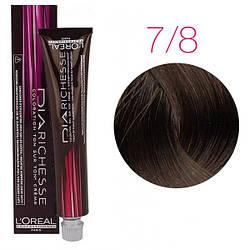 Краска для волос LOreal Professionnel Dia Richesse  Dia Richesse 7.8 (Блондин мокка) 50 мл