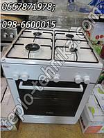 Газовая плита BOSCH HGV 425123L, 60 см, цвет белый с электрической духовкой и грилем
