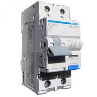 Дифференциальный автоматический выключатель 1+N, 6A, 30 mA, B, 6 КА, A, 2м Hager (AD906J)