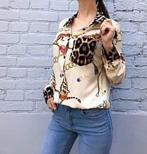Рубашка женская Цепи и тигр