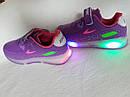 Детские светящиеся кроссовки LED на девочку бренда BBT Размер 28, фото 4