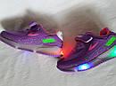 Детские светящиеся кроссовки LED на девочку бренда BBT Размер 28, фото 6