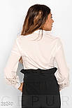Стильная белая блуза с гипюровыми вставками, фото 3