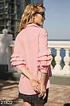 Легкая блуза персикового цвета больших размеров, фото 3