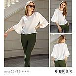 Блуза молочного цвета с рукавами с воланами, фото 4