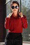 Стильная красная блуза-рубашка, фото 2