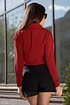 Стильная красная блуза-рубашка, фото 3