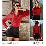 Стильная красная блуза-рубашка, фото 4
