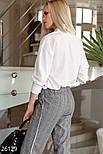 Стильная блуза-рубашка белого цвета, фото 3
