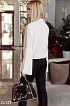 Оригинальная белая блуза с рукавами-клеш, фото 3