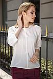 Стильная женская блуза из креп-шифона, фото 2