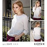 Стильная женская блуза из креп-шифона, фото 4