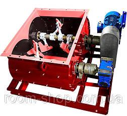 Бетоносмеситель (растворосмеситель) двухвальный БП-2Г-1500 литров, фото 3