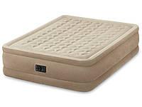 Двуспальная надувная кровать Intex + встроенный электронасос 220V, 152х203x46 см  (64458)
