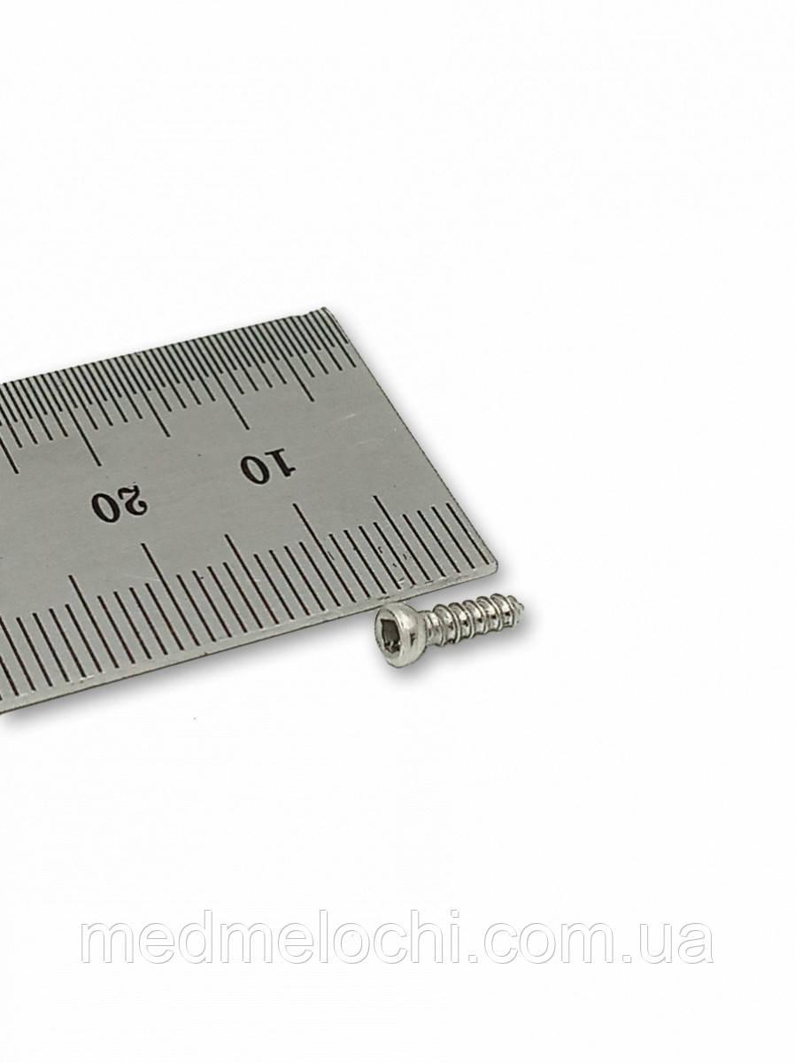 Мікрогвинт D = 2,7 мм, 10 мм, сталь, квадрат