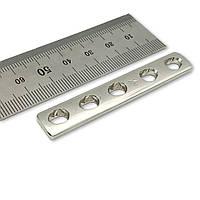 Пластина однорядка L = 62мм, D = 3,5 мм, 5 отв,