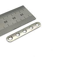 Пластина п'ясткова (сталь) D = 2,7 мм, 5 отв,