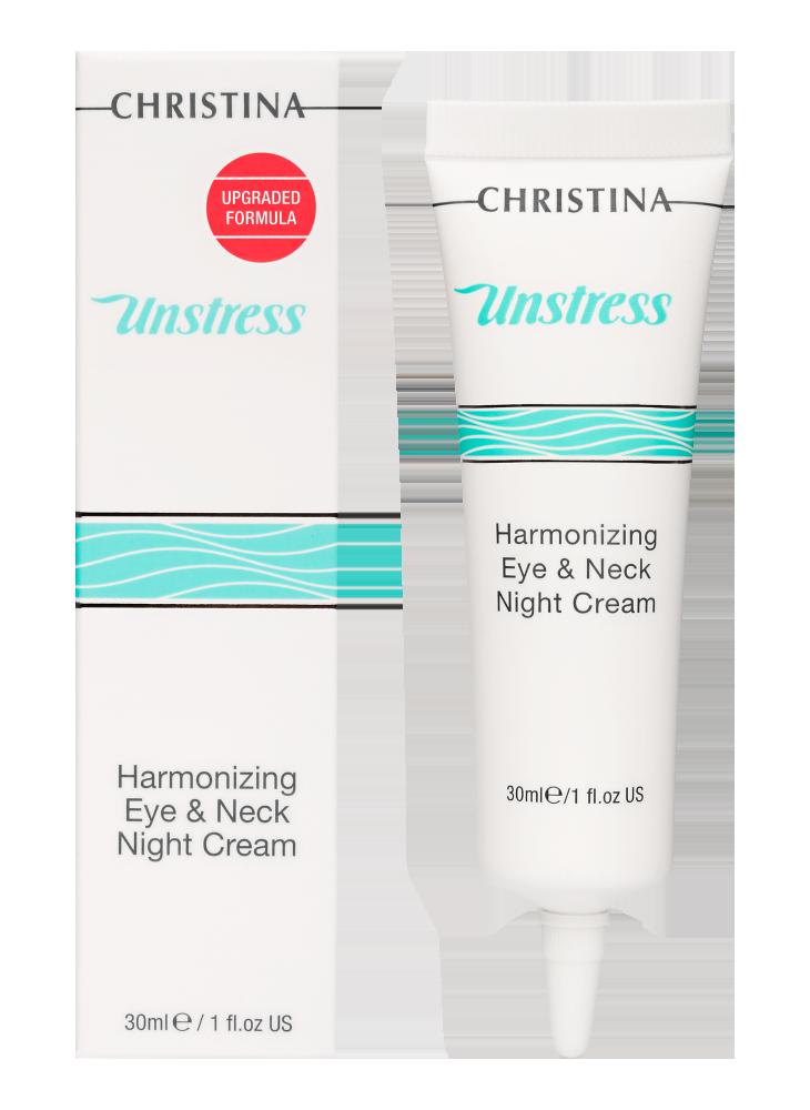 Анстресс Гармонизирующий ночной крем для кожи вокруг глаз Unstress Harmonizing Night Cream Eye & Neck, 30 мл