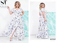 Платье большого размера / легкий софт / Украина 36-03994, фото 1