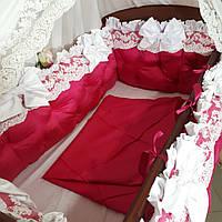 Комплект в детскую кроватку, постельное,  бортики.