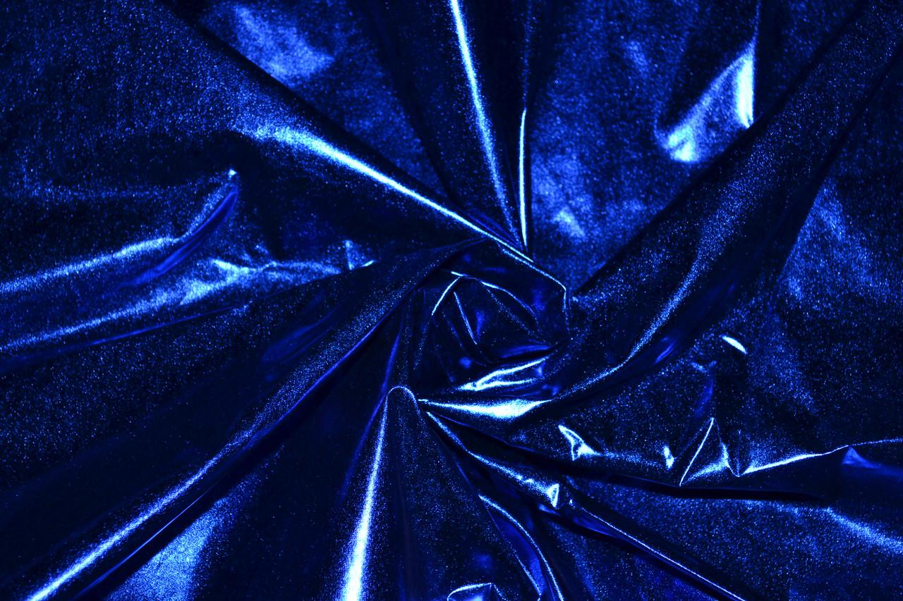 Плащевка лаке металлик (Фольга) Синий Электрик