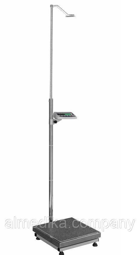 Ваги медичні з телескопічним ростоміром ТВЕ1-200-100-(400х400)-12ра-М