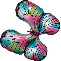 Бабочка галография гелиевая фольга, фото 1