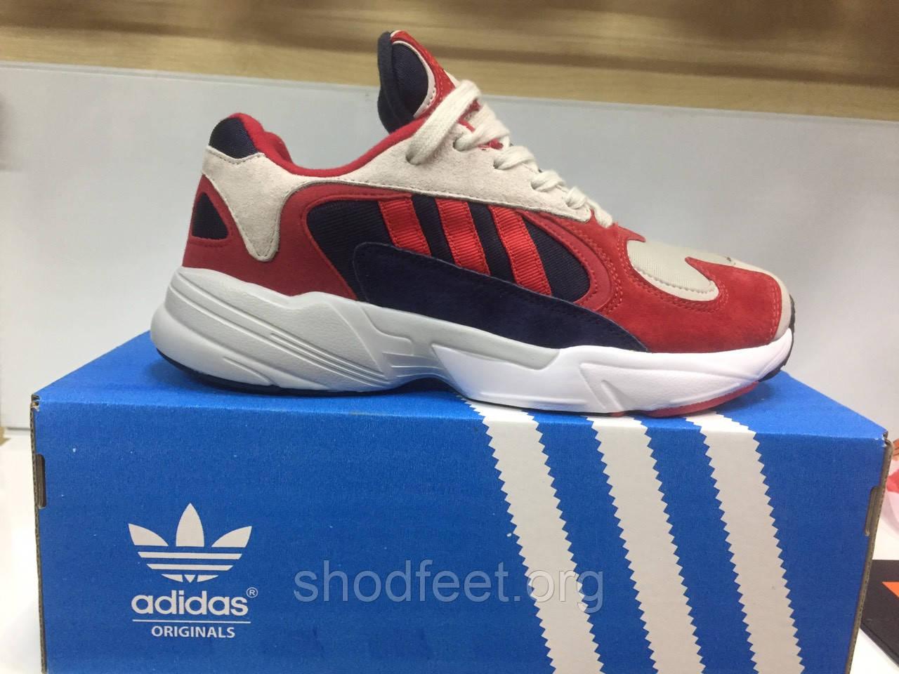 Мужские кроссовки Adidas YUNG-1 Grey Red Blue